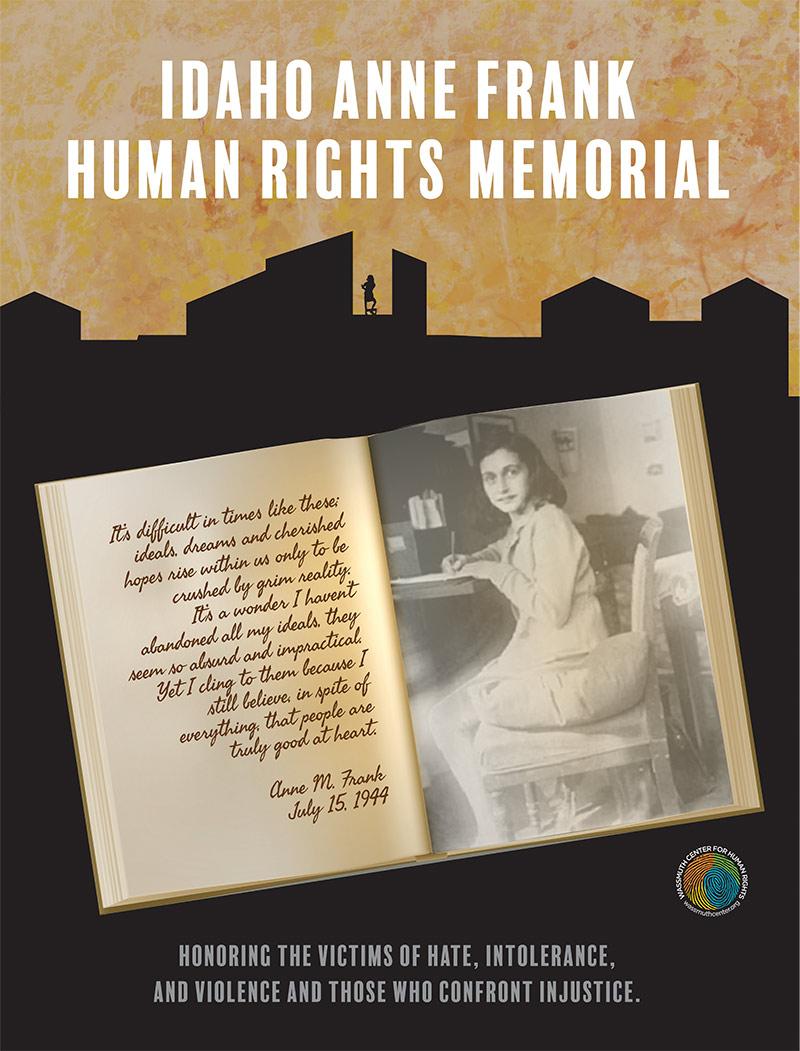 Anne Frank Memorial Poster